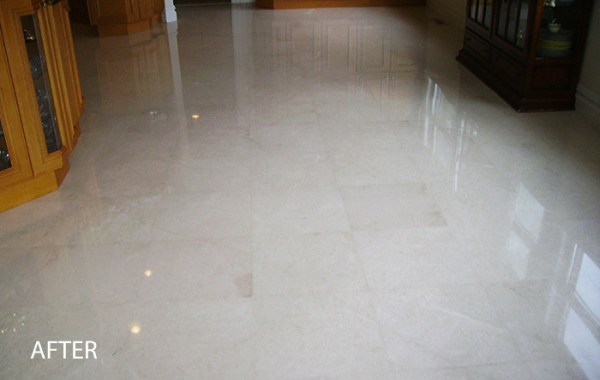 Marble Floor Polish, Crack Repair