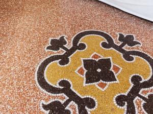 Terrazzo floor after restoration