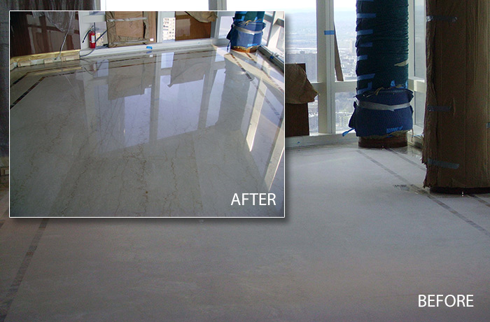 Marble Floor Before and After