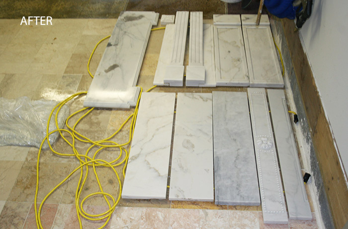 Marble Fireplace Restored