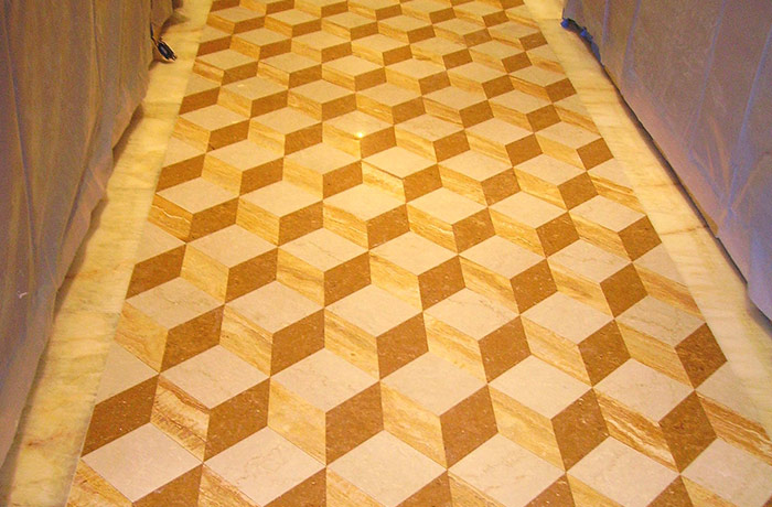 Travertine Floor Honing