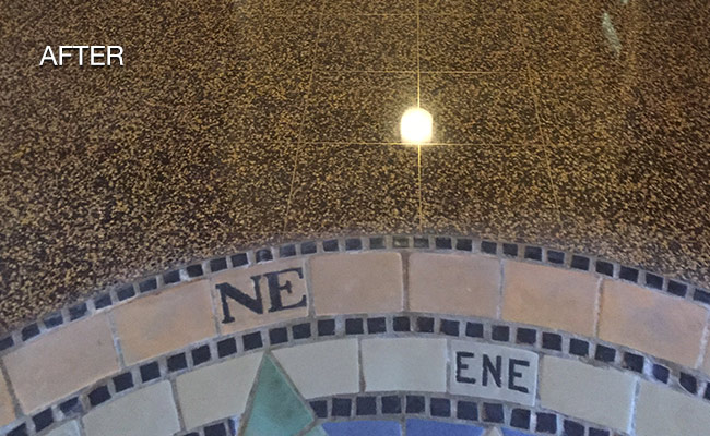 Ventnor Terrazzo Inlay After